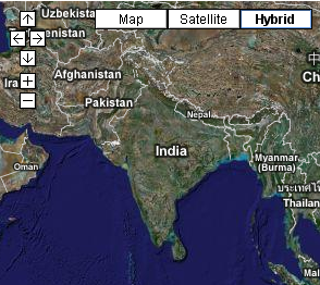 google gadget india satellite maps